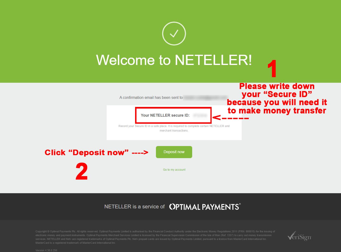 create neteller account